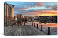 Twilight over the Shore, Leith, Canvas Print