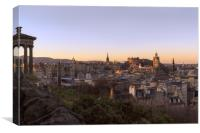 Sunrise over Edinburgh from Calton Hill, Canvas Print