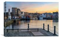 Pastel coliurs at the Shore, Leith, Canvas Print