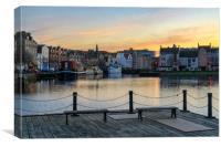 Pastel coliurs at the Shore in Leith, Edinburgh, Canvas Print