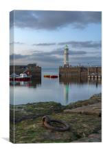 Newhaven lighthouse at sunset, Canvas Print