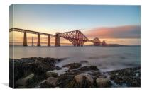 The Forth Bridge at Sunset, Canvas Print