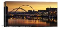 Sunset Time On the Tyne, Canvas Print