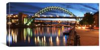 Newcastle Riverside, Canvas Print