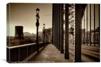 Vintage Tyne Bridge at Newcastle, Canvas Print