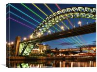 River Tyne Rainbow, Canvas Print