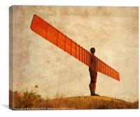 Angel Of The North Textured, Canvas Print