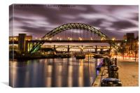 After Sunset on the Tyne, Canvas Print