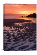 South Shields Beach Sunrise, Canvas Print