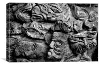 Wall of Faces, Canvas Print