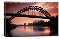 Sunrise Over Tyne Bridge, Canvas Print