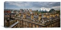 Cloudy Day Over Newcastle, Canvas Print