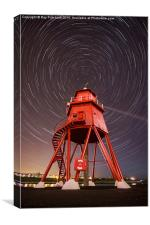 Herd Lighthouse With Star Trails , Canvas Print