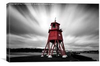 Cloud over The Groyne, Canvas Print