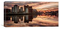 Tyne Reflections, Canvas Print