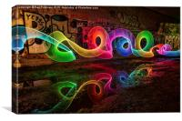 Jarrow Light Painting, Canvas Print
