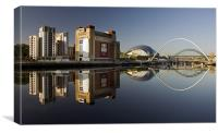 Gateshead Riverside, Canvas Print