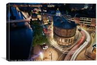 Newcastle Light Trails, Canvas Print