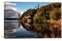 Boathouse at Ullswater , Canvas Print