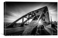 Sun and the Tyne Bridge, Canvas Print