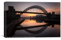 Sunrise at the Tyne Bridge, Canvas Print