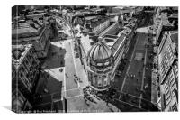 Newcastle from Above, Canvas Print