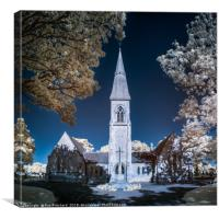 Infrared Chapel, Canvas Print