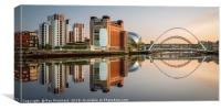 Summer Reflections on the Tyne, Canvas Print