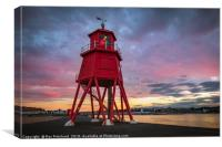Herd Lighthouse Sunset, Canvas Print