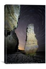 Lots Wife Startrail at Marsden, Canvas Print