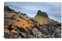 Lindisfarne Castle, holy island , Canvas Print