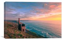 Wheal Coates tin mine  , Canvas Print