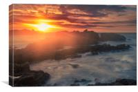Sunset at Cobo , Canvas Print