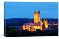 Canterbury Cathedral at dusk, Canvas Print