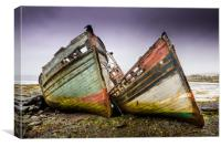 Fishing Boats, Isle of Mull, Canvas Print