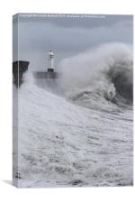 Porthcawl lighthouse, South Wales, UK, Canvas Print