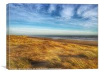 Camber Sands , Canvas Print