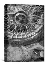 Wheel of an old car., Canvas Print