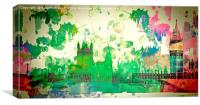 Westminster water colour, Canvas Print
