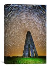 Time flies over the Daymark, Canvas Print