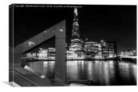 The Shard across the Thames, Canvas Print