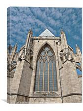 York Minster - Chapter House Window, Canvas Print