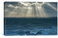 Crepuscular rays on the Solent, Canvas Print