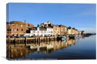 Beautiful Sunny Winters days In Weymouth, Canvas Print