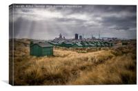 Workers Huts, Canvas Print