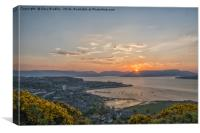 Sunset from the Lyle Hill Greenock, Canvas Print