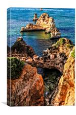 Stacks at Ponta-da-Piedade (Mercy point), Canvas Print