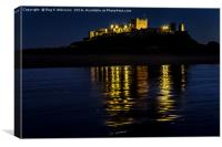 Night Reflections Of Bamburgh Castle, Canvas Print