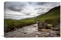 Whillian Beck Towards Wasdale Head, Canvas Print