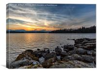 Windermere Sunset, Canvas Print